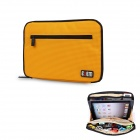 Multifunction Large Capacity Storage Bag for IPAD MINI Digital Accessories - Yellow