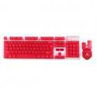 JW-1979 2.4GHz Wireless 105-Key Suspended Mechanical Touch Keyboard Set - Red