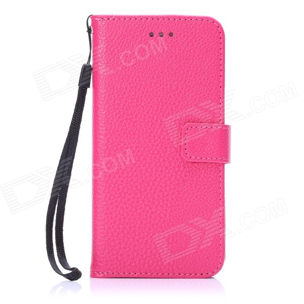 ENKAY Protective PU Leather Case w/ Stand and Card Slots for IPHONE 6 4.7- Deep Pink jeans cloth card holder stand pu leather shell for iphone 6s 6 4 7 inch pink