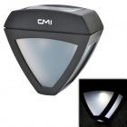 CMI 0.2W 15LM 6500K 2-LED White Light Retro Style Optical Control Solar Wall Lamp - Black (2V)