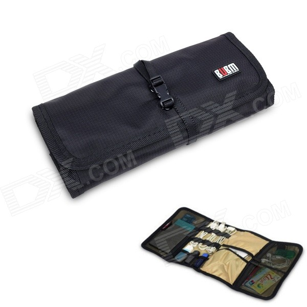 BUBM BJ7 Reel-type Large-Capacity Multi-Purpose Digital Pouch Storage Bag bubm bj7 reel type large capacity multi purpose digital pouch storage bag coffee