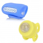 DIY White + RGB Headlight + Tail Warning Lamp Set for Bicycle - Blue + Yellow