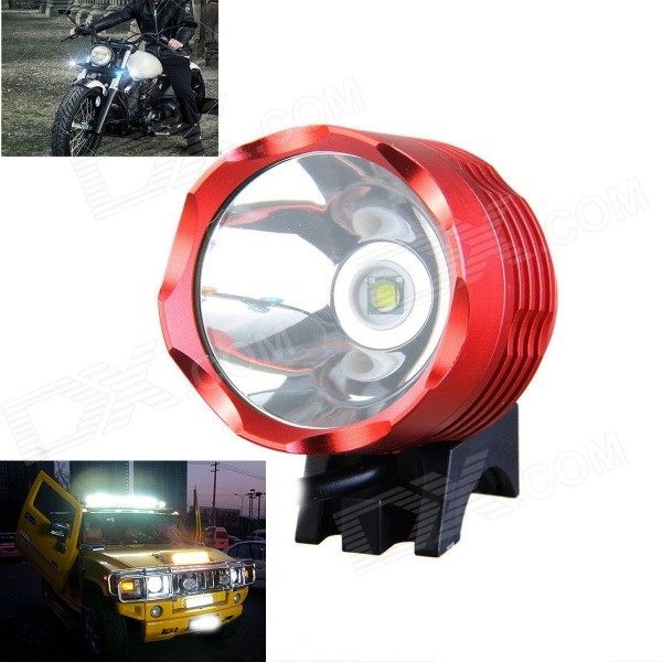 KINFIRE U2 4.2~12V DIY 600lm 3-Mode White Bicycle Car Motorcycle Lamp w/ CREE XM-L T6 - Red