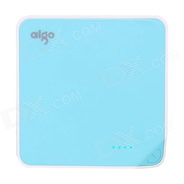 Aigo Universal 10400mAh Li-ion Power Bank w/ LED Battery Indicator - Blue xiaomi universal 10400mah usb li ion battery power bank w 4 led indicators deep pink
