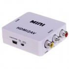 HDMI AV / CVBS L / R Video Converter - Weiß