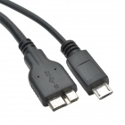 CHEERLINK 2-in-1 USB 3.0 Male to Micro USB + USB 3.0 B Data Cable - Black (38cm)