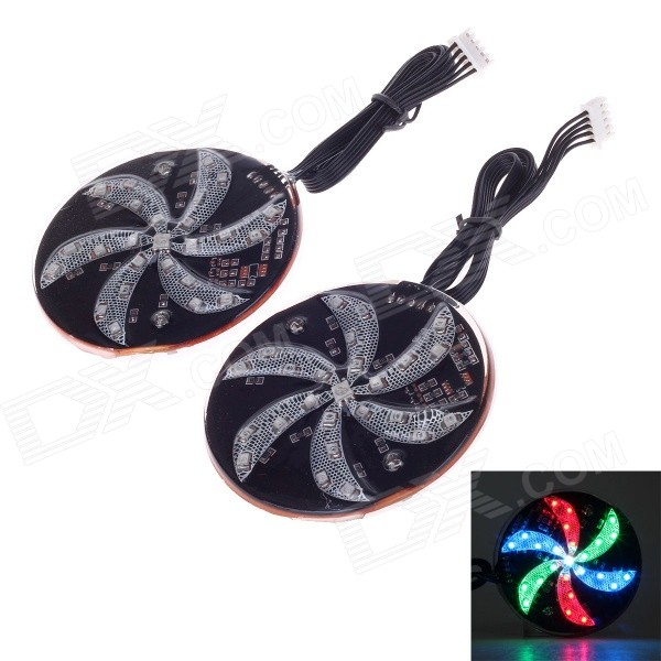 "TC-8125 DIY 8"" 7-Color Light Motorcycle Decorative LED Light for Motorcycle (2 PCS)"