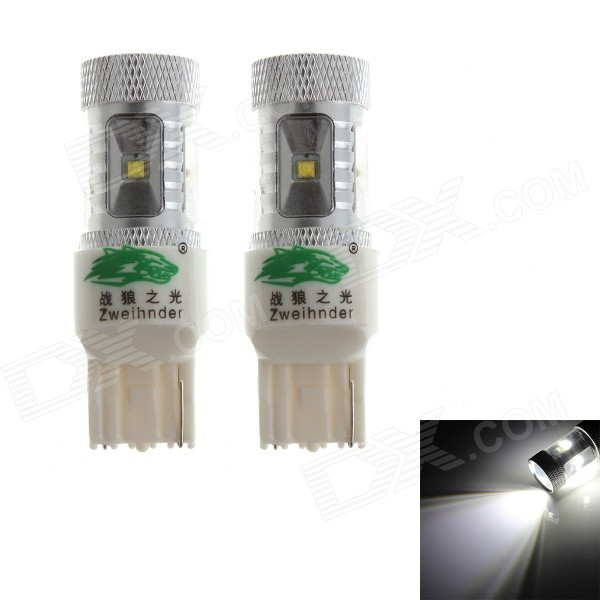 Zweihnder 7440 30W 2800LM 6000K White Light Foglight Bulb w/ 6xCree XP-D for Car (12-24V,2PCS)