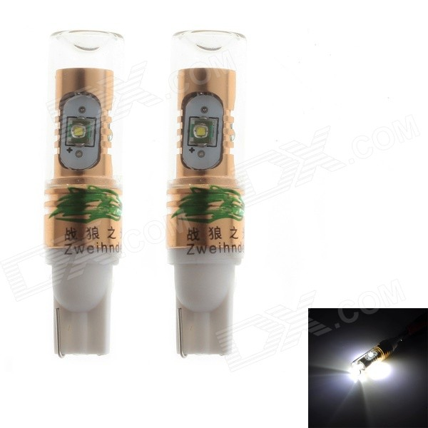 Zweihnder T20 20W 1900LM 6000K White Reversing Light Bulb w/ 4xCree XP-E for Car (12-24V,2PCS)