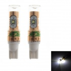 Zweihnder T10 20W 1900LM 6000K White Reversing Light Bulb w/ 4xCree XP-E for Car (12-24V,2PCS)