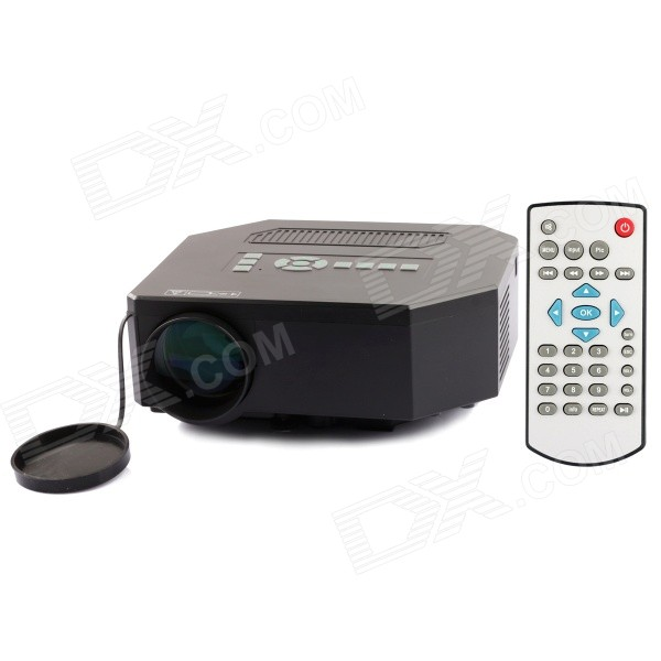 UC30 30W Portable Mini LCD HD Projector w/ SD / AV / VGA / HDMI / Micro USB / US Plug - Black rd 802 24w led hd home mini projector w hdmi vga usb remote control blue us plug