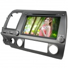 "LSQSTAR 8 ""-Touchscreen 2-DIN-DVD-Spieler w / GPS AM FM RDS IPOD 6CDC SWC AUX für Honda Civic Left"