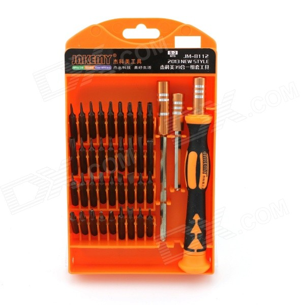 39-in-1 Telecommunications Repairing Screwdriver Tool Set - Orange + Black