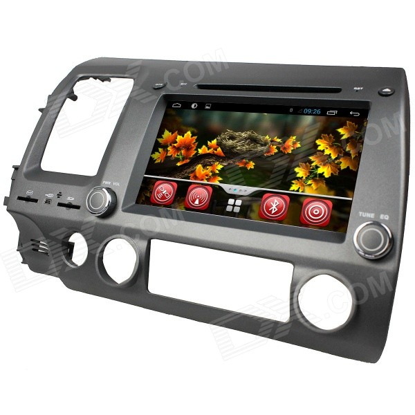LsqSTAR 8 Capacitive Screen Android4.2 Car DVD Player w/ GPS WiFi IPOD SWC AUX for Honda Civic Left lsqstar 8 touch screen 2 din car dvd player w gps fm ipod rds canbus aux for mitsubishi outlander