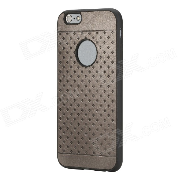 ROCK Pattern Series Protective TPU + PU Leather Back Case  for IPHONE 6 4.7 - Iron Grey аксессуар чехол rock jello protective shell for iphone 6 white 69439