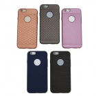 "ROCK Pattern Series Protective TPU + PU Leather Back Case  for IPHONE 6 4.7"" - Iron Grey"