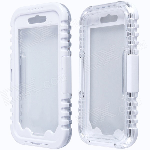 Aoluguya AL01 Waterproof Shockproof Anti-slip PC Case for IPHONE 6 4.7'' - White + Transparent