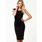 Women Fashion Sexy Party Evening Elegant Dress - Black (L)