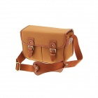IH110-BR Canvas One-Sholder Bag for Camera / Camcorder - Brown