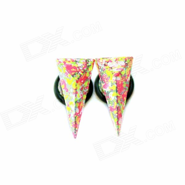 Unisex Double-sided Colorful Cone Stud Earrings (2 PCS) double sided prototyping pcb universal board 6 x 8cm 5 pcs