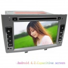 "LSQSTAR 7 ""kapazitiver Schirm Android4.2 Car DVD-Player w / GPS WiFi BT AUX für Peugeot 408/308 / 308SW"
