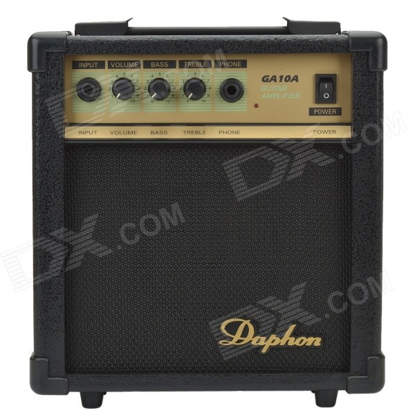 Daphon GA10A 10W 40dB Guitar Amplifier w/ Volmue, Bass, Treble, Phone Functions & LED Indicator 1more super bass headphones black and red