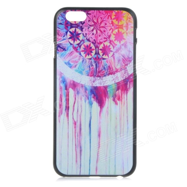 Flower Pattern Protective Plastic Back Case for IPHONE 6 4.7 - Black + Red + Multi-Color zigbee cc2530 multifunction dode device module backplane 3db antenna deep blue 1 x aaa