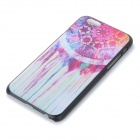"Flower Pattern Protective Plastic Back Case for IPHONE 6 4.7"" - Black + Red + Multi-Color"