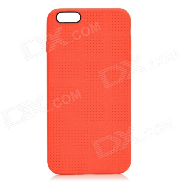 Holes Pattern Protective TPU Back Case for IPHONE 6 PLUS 5.5 - Red holes pattern protective tpu back case for iphone 6 plus 5 5 red