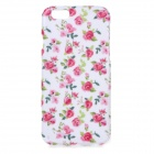 """Rose Pattern Protective TPU Back Case for IPHONE 6 4.7"""" - White + Pink + Multi-Color"""