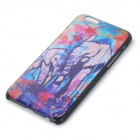 "Basso-relievo Elephant Pattern Protective Plastic Back Case for IPHONE 6 4.7"" - Black + Blue"