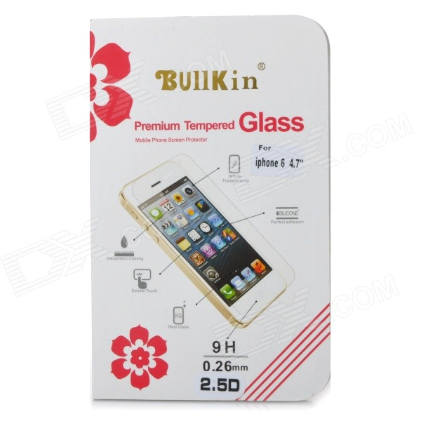 "Bullkin 0,26 mm 9H herdet Glass Screen Protector for IPHONE 6 4.7""- gjennomsiktig"