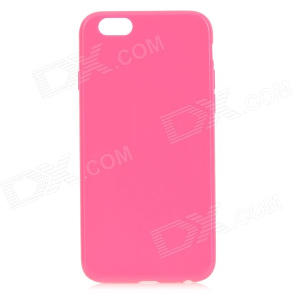 Protective TPU Back Case for IPHONE 6 4.7 - Deep Pink mesh style protective back case for htc one x s720e deep pink