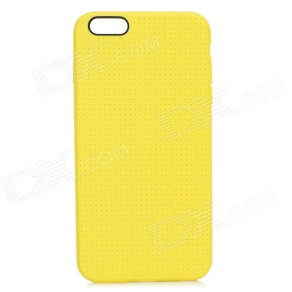 Holes Pattern Protective TPU Back Case for IPHONE 6 PLUS 5.5 - Yellow holes pattern protective tpu back case for iphone 6 plus 5 5 red