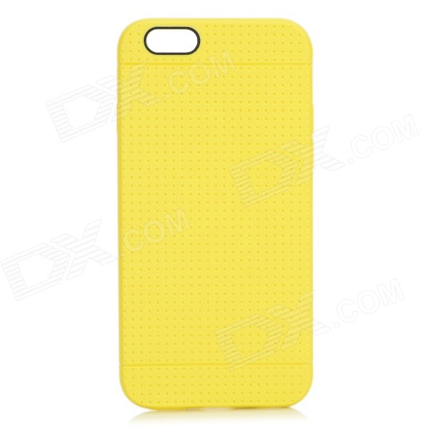 "Holes Pattern Protective TPU Back Case for IPHONE 6 4.7"" - Yellow"