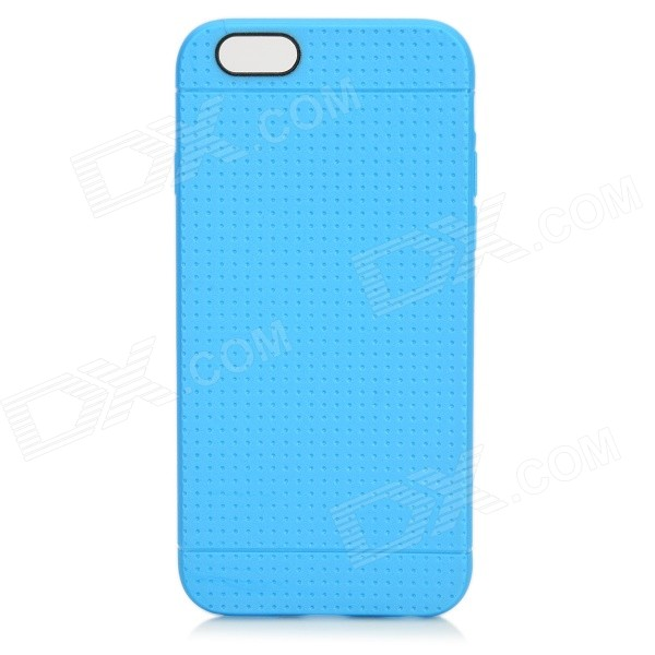 Holes Pattern Protective TPU Back Case for IPHONE 6 4.7 - Blue holes pattern protective tpu back case for iphone 6 plus 5 5 red