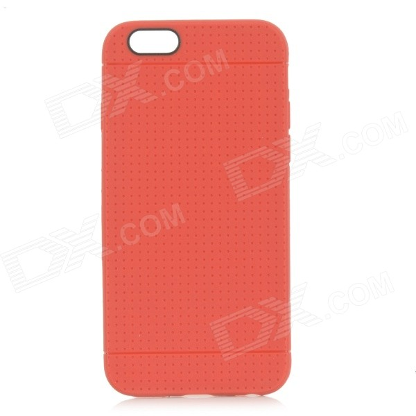 Holes Patterned Protective TPU Back Case Cover for IPHONE 6 - Red holes pattern protective tpu back case for iphone 6 plus 5 5 red