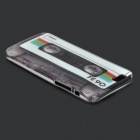 Tape Pattern Silicone Back Case for IPHONE 6 - White + Black