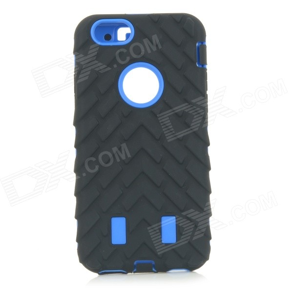 3-in-1 Detachable Protective ABS + Silicone Back Case Cover for IPHONE 6 - Black + Blue