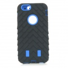 TN-92 3-in-1 Detachable Protective ABS + Silicone Back Case Cover for IPHONE 6 - Black + Blue
