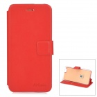 "Protective PU + TPU Flip-Open Case w/ Stand / Card Slot for IPHONE 6 4.7"" - Red"