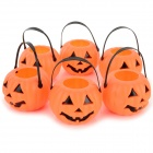 Halloween / Costume Party Decorative Pumpkin Lamp Cover - Orange + Black (6 PCS)