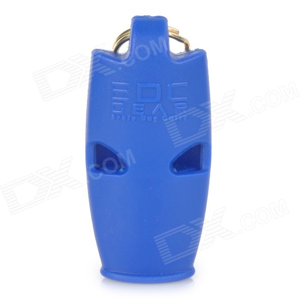 Outdoor Land-and-water Emergency / Suvival Whistle w/ Key Ring - Blue