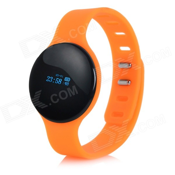 "SW102 0.68"" Bluetooth V4.0 Smart Watch Wristband Bracelet w/ Sports / Sleep Tracking - Orange Cary Classifieds Marketplace"