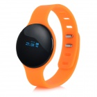 "SW102 0.68"" Bluetooth V4.0 Smart Watch Wristband Bracelet w/ Sports / Sleep Tracking - Orange"