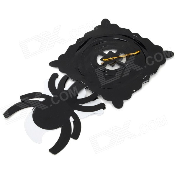 Halloween / Dancing Party Plastic Decorative Pumpkin Flower - White + Black