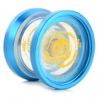 AODA Cool Aluminum Alloy + Plastic YO-YO Toy - Blue + Transparent + Multi-Color