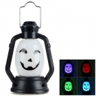Halloween Funny Face Shaped Hand Lamp - White + Black (3 x AG13)