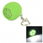 Creative Ball Shaped 5-LED White Light Keychain - Green (3 x AG10)