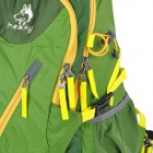 Hasky CY-2057 Outdoor Climbing Nylon Shoulders Bag Backpack w/ Built-in Support - Green + Yellow